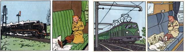 tintin train ile noire