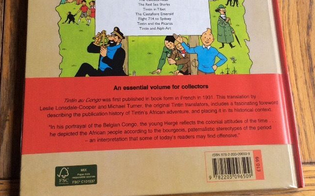 uk tintin disclaimer racisme